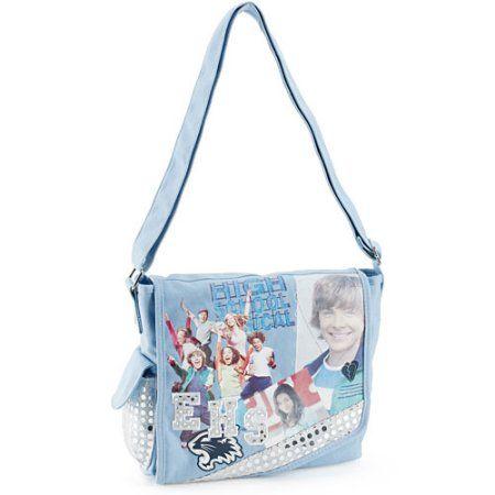Disney - High School Musical Sequin Messenger Bag, Blue
