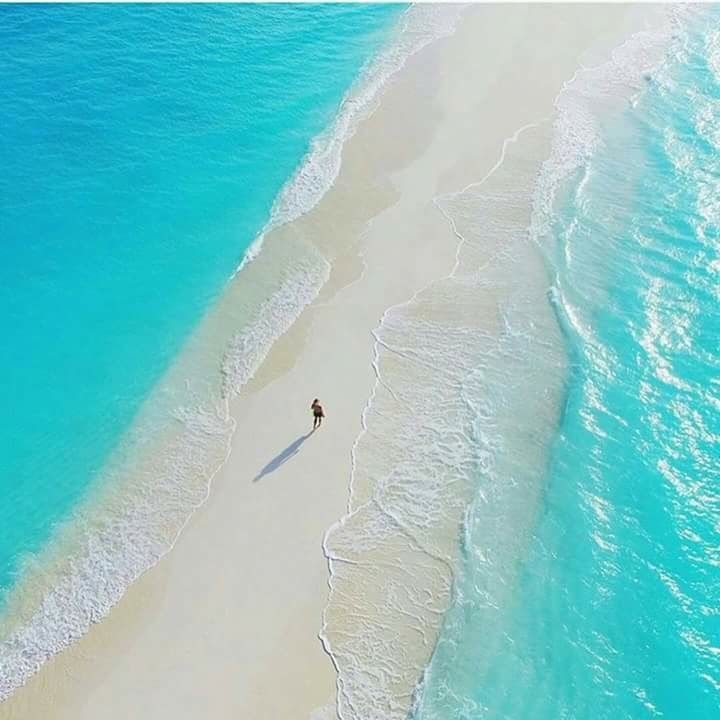 This is a natural walkway in Maldives.  sixpenceee