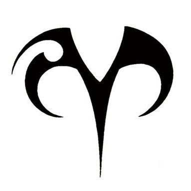 Aries symbol tattoo idea. Maybe in a different color. | Tattoos ...