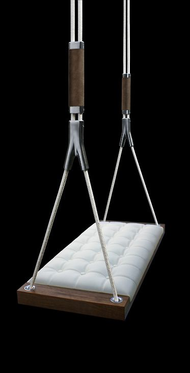 """""""Adding a couple of swings to the living room instead of stools would be a really fun way to spice things up!! """""""
