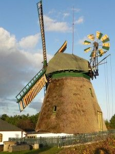 Windmühle in Nebel auf Amrum
