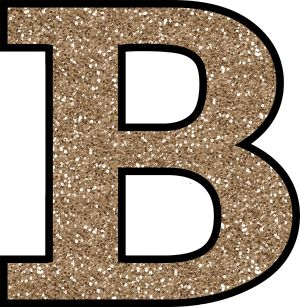 Glitter Without The Glue! Free Digital Printable Alphabet to Download: Glitter Letter B To Print