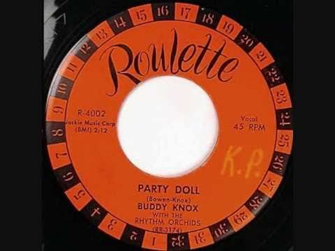 Buddy Knox recorded his song 'Party Doll' in 1956 in a little Amerillo TX studio - it became a regional hit in TX. Roulette Records in NYC heard the song, signed Knox and that next year ('57) made his rock-a-billy song 'Party Doll' a #1 hit hit in the US - it would reach across the Atlantic with it's great guitar licks, influencing George Harrison and other young British up and coming guitar players.