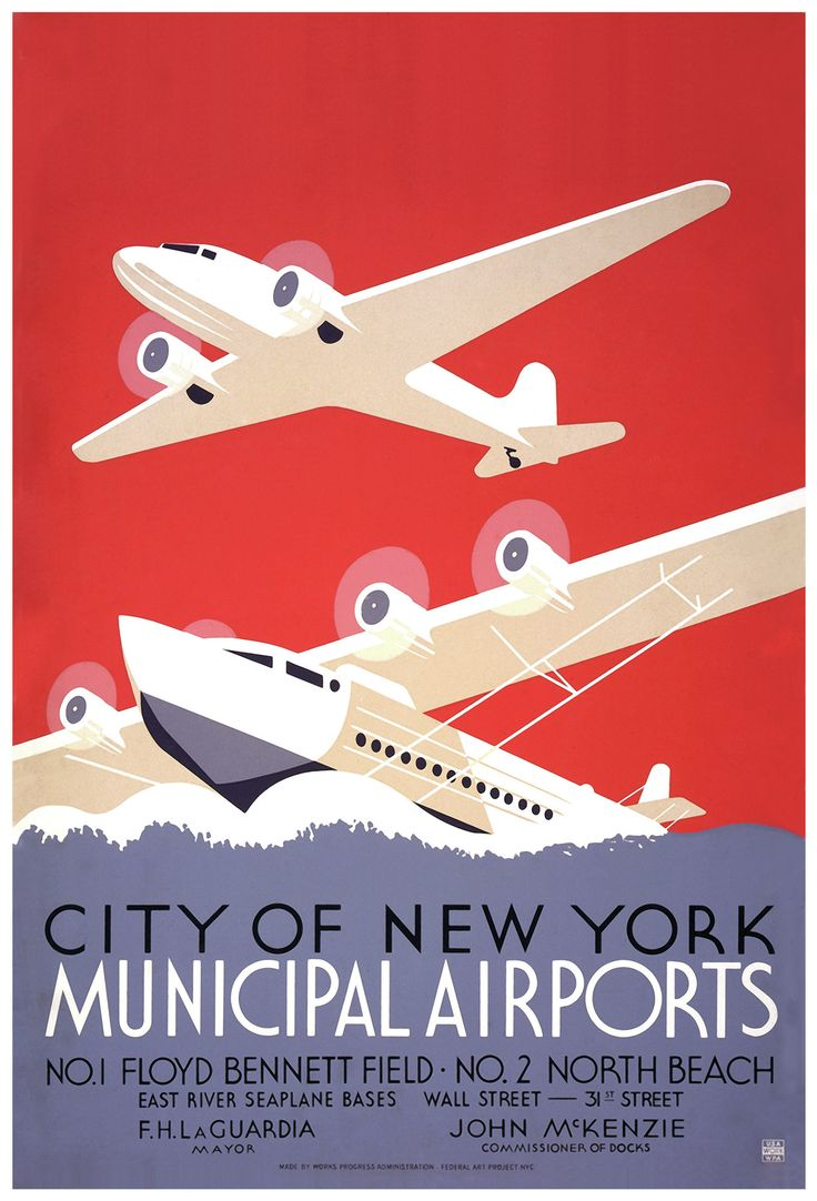 New York Airport Vintage Advertisement