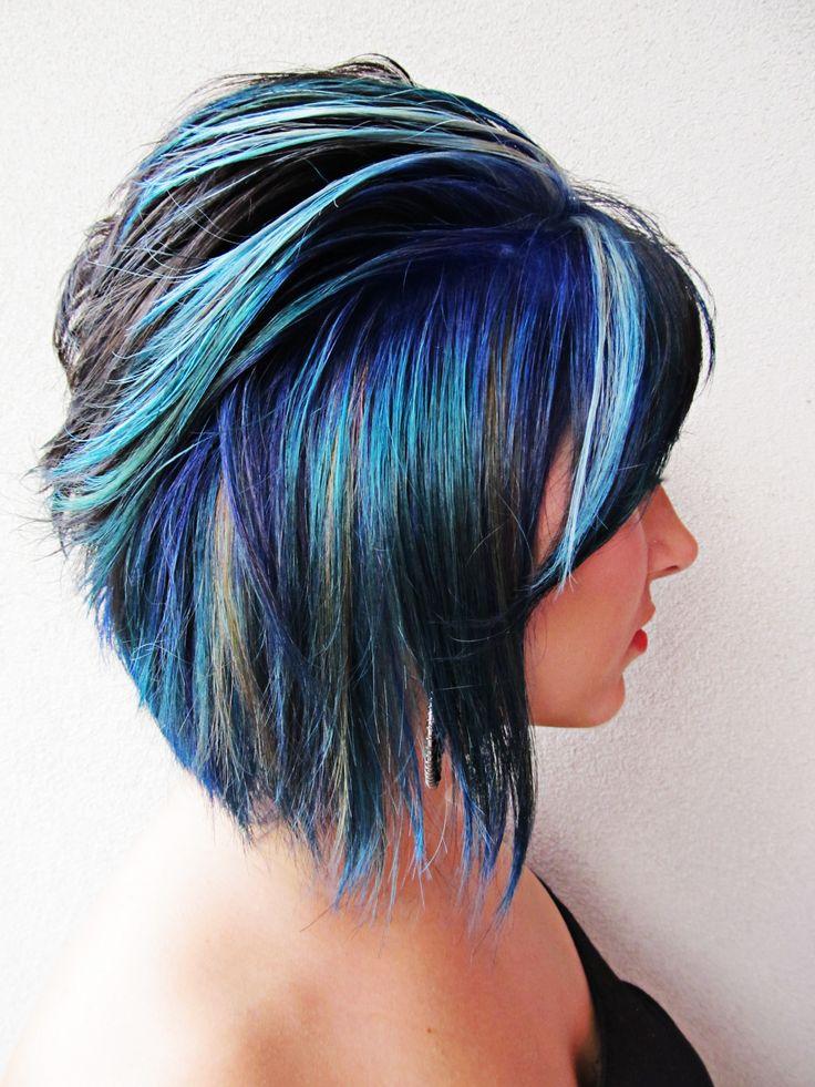 ultimate in blue hair streaks