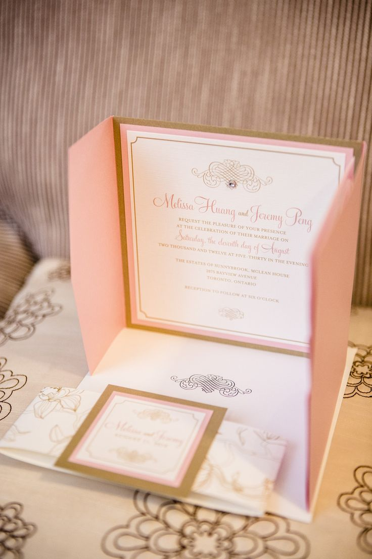 fast shipping wedding invitations%0A Pink and gold wedding invitations  Photography by ikonica ca Read more   http