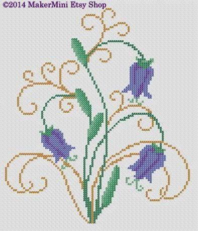 Blue Bells - Cross Stitch Pattern