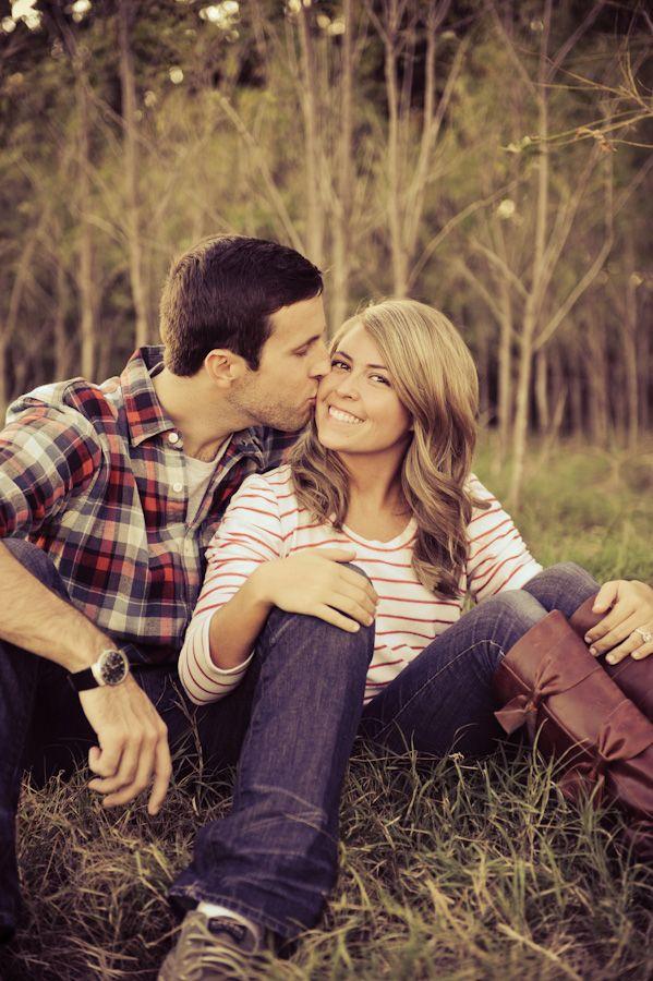 couple post engagement