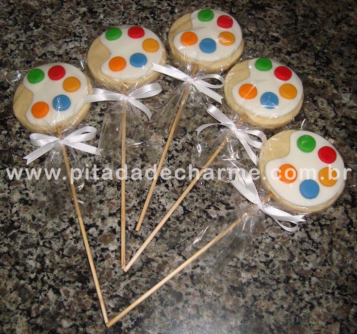 *Biscoitos no palito* Festinha Cores