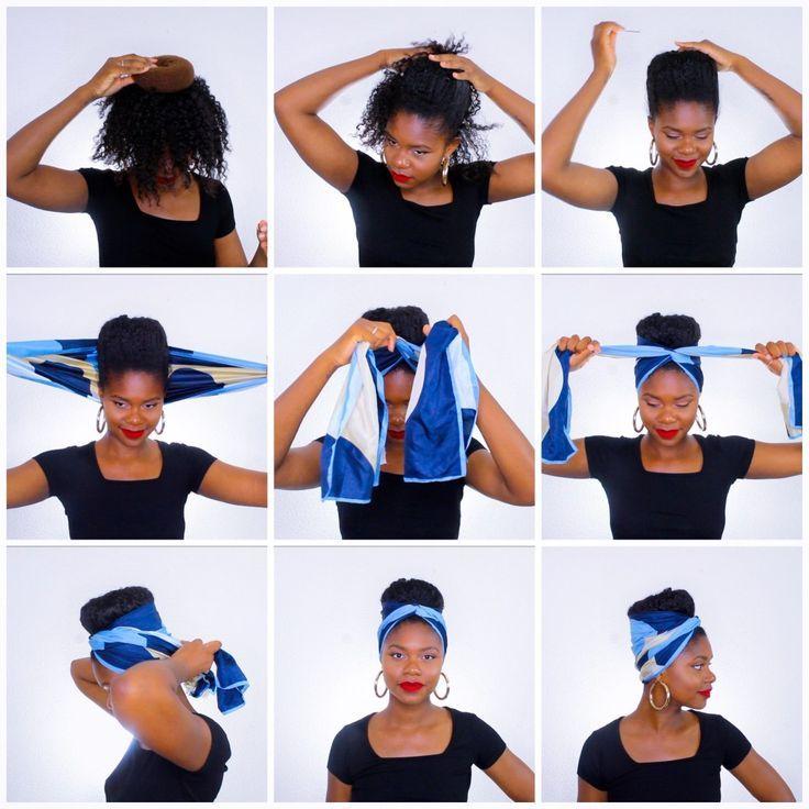 Foulard 5 Tattoo Haircut Rectangular Afro Kinky   – Head scarfs