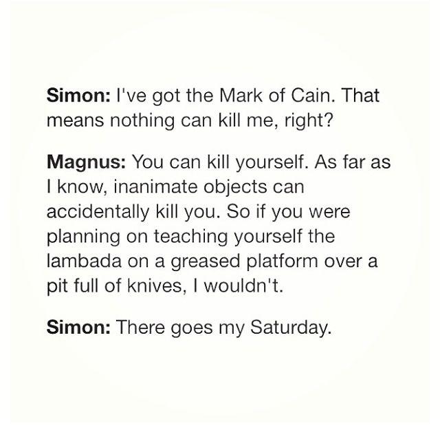Gotta love Magnus!! And of course Simon