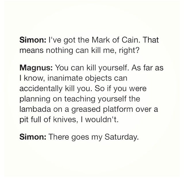 Gotta love Magnus!! And of course Simon
