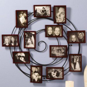 Family Picture Wall Ideas Unique Hanging Spiral Photo Art Collage Iron Frame Frames