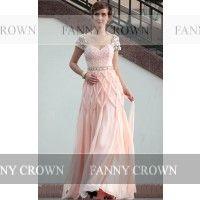 Beautiful Sweetheart Long Pearl Pink Prom Dresses | Fanny Crown