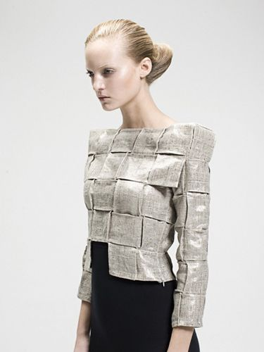 Woven Structures - fabric pattern & texture, fashion design details // SS11 Sandra Backlund