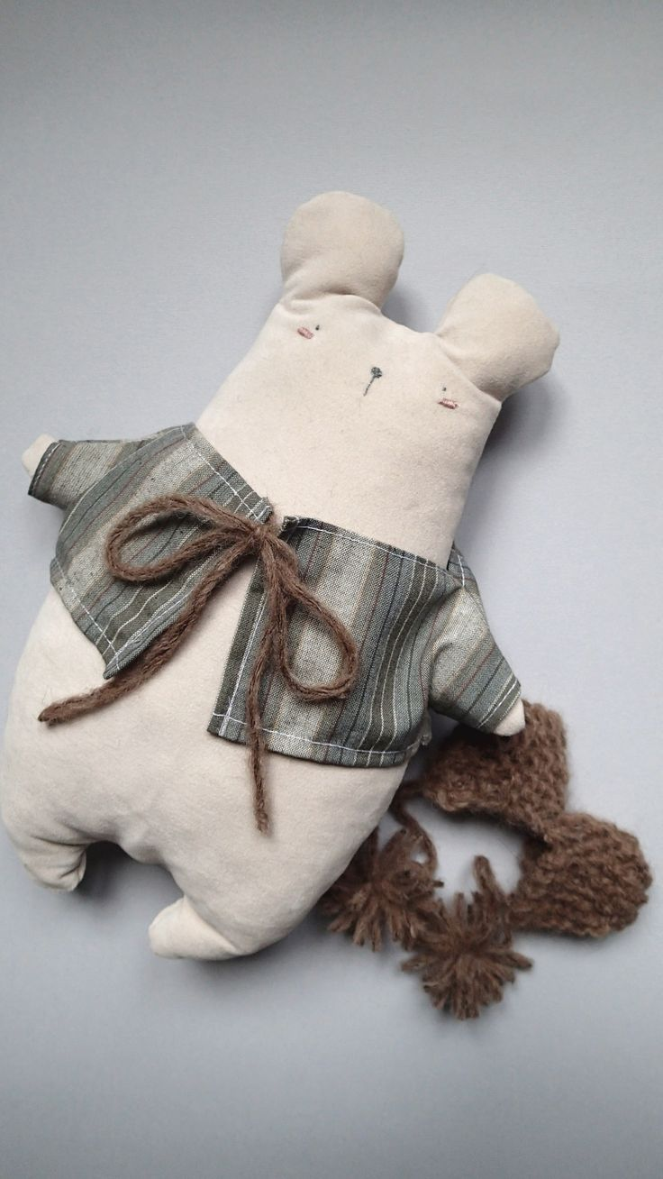 Handmade cuddler from Italy! Adolfo The Bear.