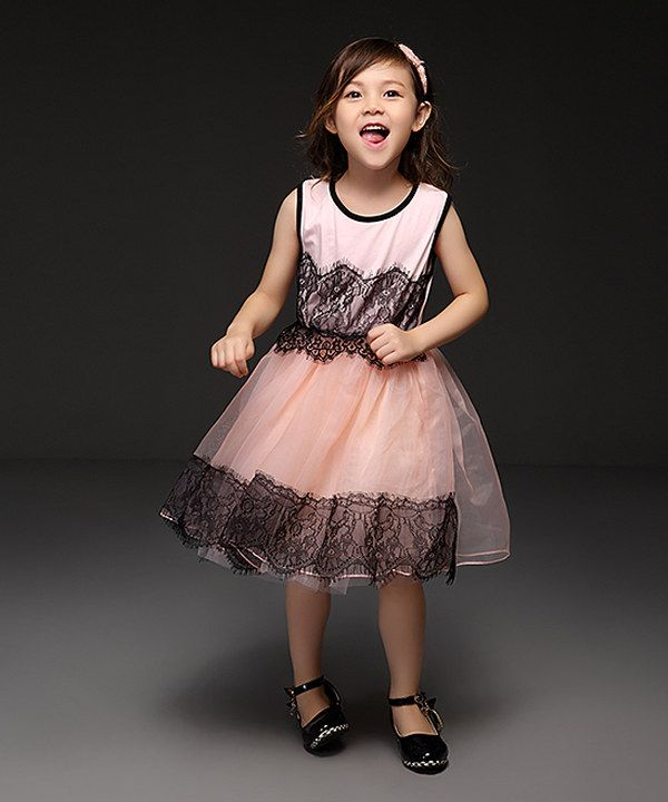 Look at this Pink Lace-Overlay Tutu Dress - Toddler & Girls on #zulily today!