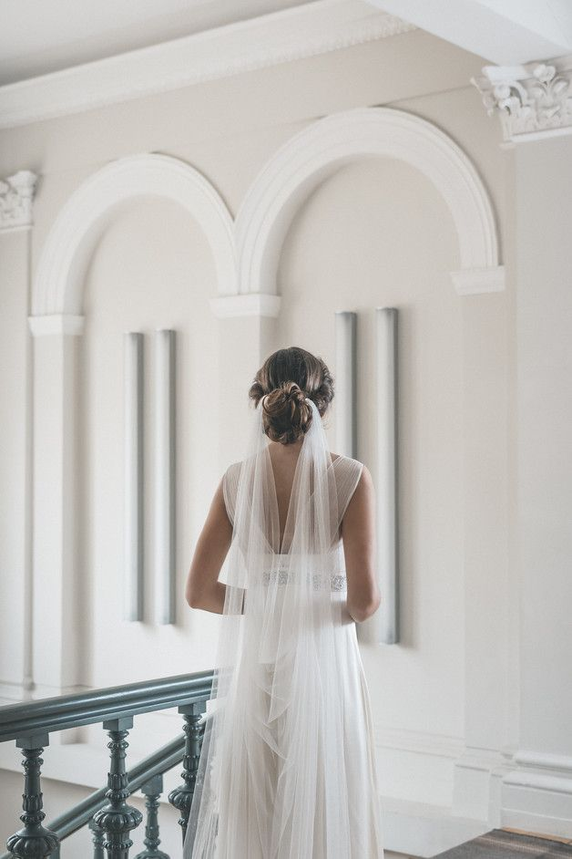 Draped Veil, Wedding Veil, Boho Veil - floraljewellery-bridal - Welon ślubny