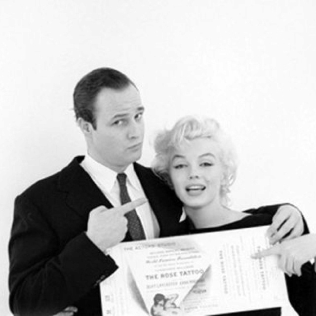 Marlon Brando and Marilyn Monroe | Photos | Pinterest