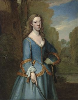 Portrait of Lucy Pelham-Holles, Countess of Lincoln (d. 1736), three-quarter-length, in riding habit, in a landscape