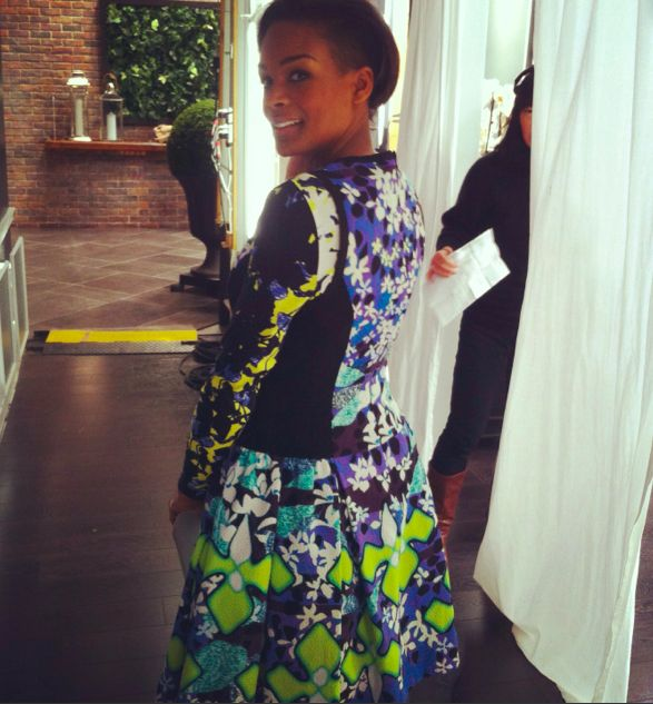 An early look at #PeterPilotto for Target. (exclusive to Net-a-Porter, Feb 9). Backstage at Steven & Chris.
