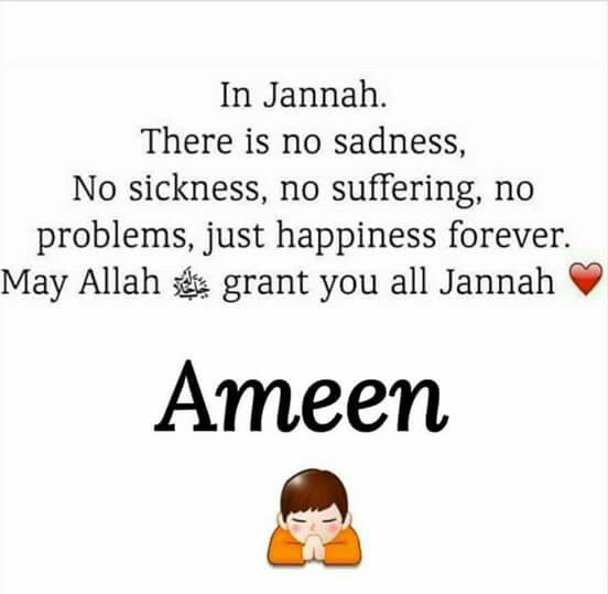 May we all strive for and be granted Jannah. Ameen