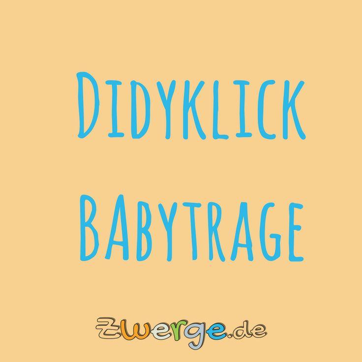Mit dem Didyklick kannst Du Dein Baby vor dem Bauch, auf dem Rücken und auf der Hüfte tragen. Diese Babytrage ist ab Geburt geeignet, da sie sehr gut individuell auf Dein Baby einstellbar ist.