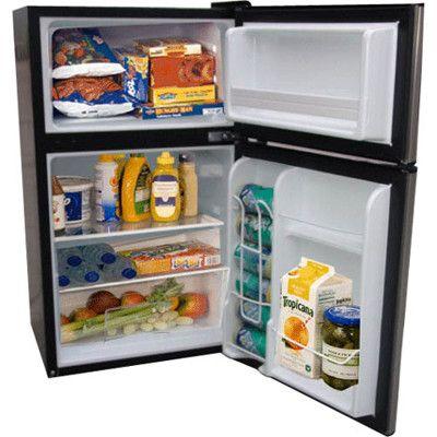 2 Door Compact Refrigerator. Great For Dorm Rooms At College Part 13