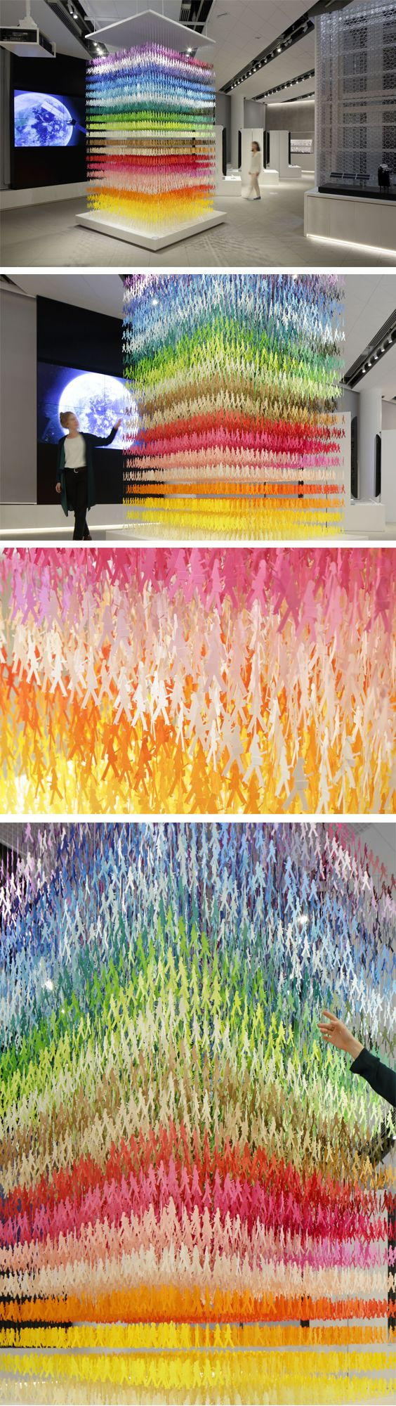 Click for more pics! | Giant Paper Sculptures That Use Color to Divide and Establish Space Within a Room #paperart #installation