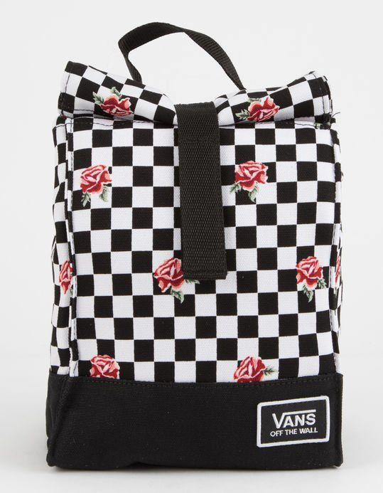 7f844273d VANS Mow Rose Checkerboard Lunch Bag - BLKWH - TBD-BLKWHTCHKR | Tillys
