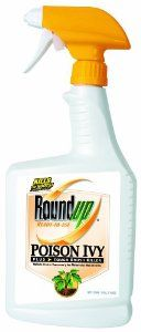 Roundup 5002310 Poison Ivy Plus Tough Brush Killer Spray, 32-Ounce by Roundup. $29.99. Specially formulated to penetrate waxy leaves of hard-to-kill weeds and brush. Treats up to 1,500 sq ft.. Visible results in 24 hours. Rainproof in 30 minutes. Exclusive formula combines 2 brush killing ingredients. From the Manufacturer Don't let invasive weeds such as poison ivy, poison oak, kudzu and other tough to kill brush take over your yard. Roundup Poison Ivy Plus Tough ...