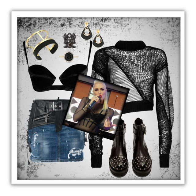 """""""Get the Look: Ms. Stefani"""" by nova5ta5ia ❤ liked on Polyvore featuring Helmut Lang, Dsquared2, Alexander McQueen, Samsung, Vince Camuto, Effy Jewelry and Colette Jewelry"""