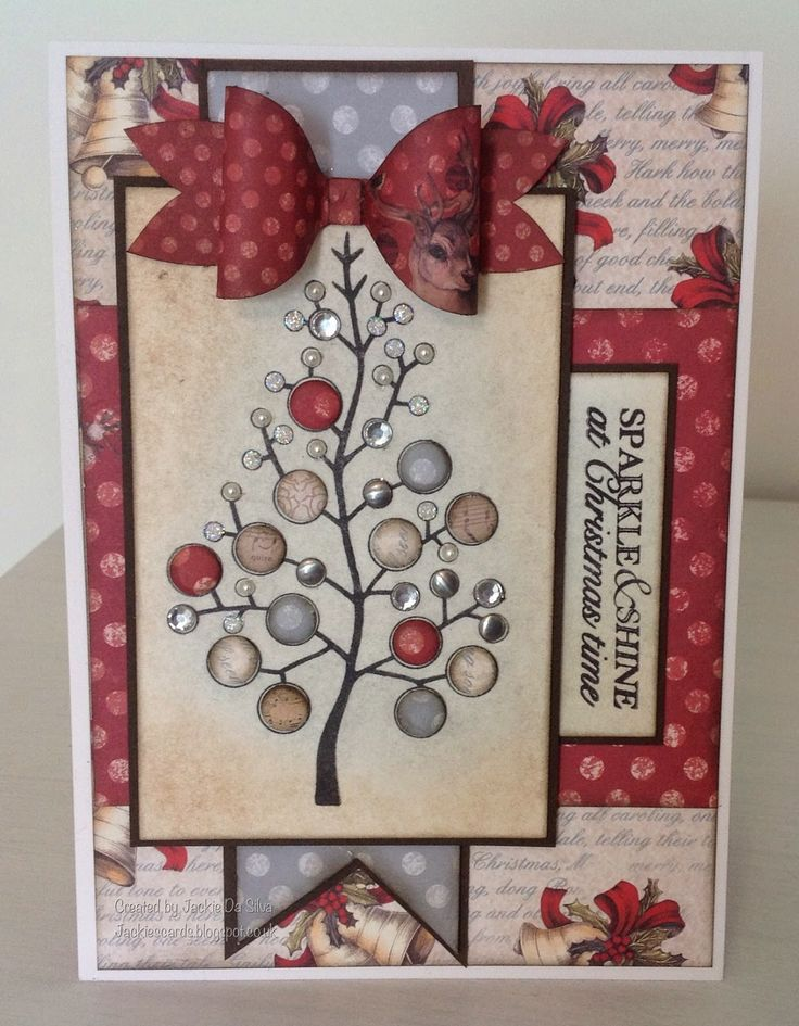 Craftwork Cards Magic Of Christmas kit and Woodware Bubble Tree stamp