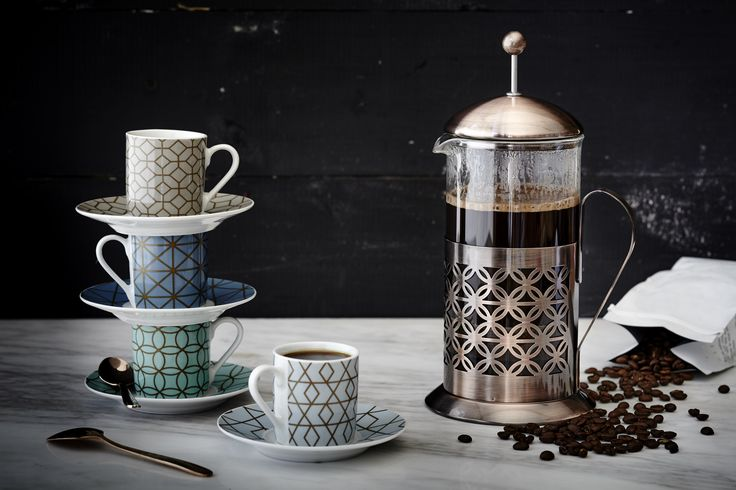 This elegant rose gold french press is the perfect accompaniment to a cooked breakfast on a cold weekend morning. #AddWarmth