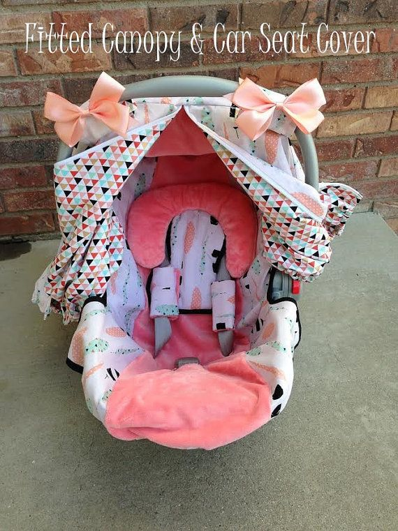 Girl Car Seat Cover and Car Seat Canopy in by WadsworthBoutique