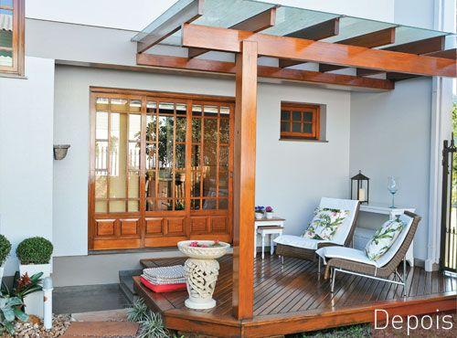 Pergolado com vidro: boa ideia para a varanda. No link tem mais referencias ...