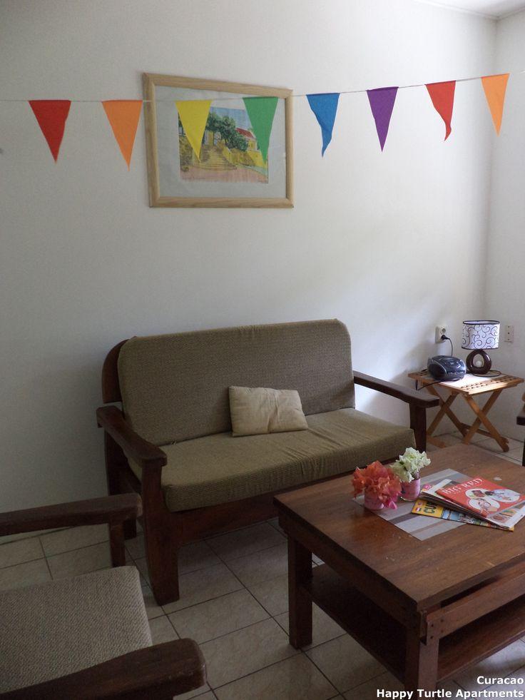 Slingers voor een jarige gast. Het 2 slaapkamer appartement.  @ Vakantie appartementen Happy Turtle, Curacao
