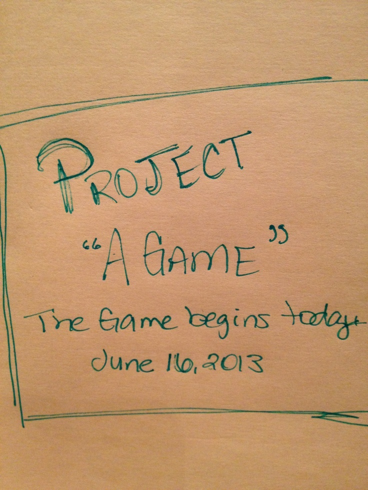 Project A Game starts today!