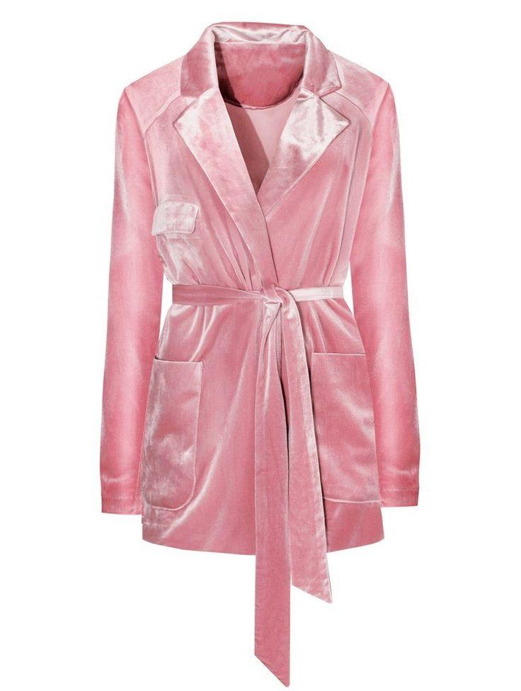 Primavera de veludo rosa blazers e jaqueta Feminina Longo Ternos Slim Fit moda casual Tops blazer mujer Casaco Feminino Roupas 030113 em Blazers de Das mulheres Roupas & Acessórios no AliExpress.com | Alibaba Group