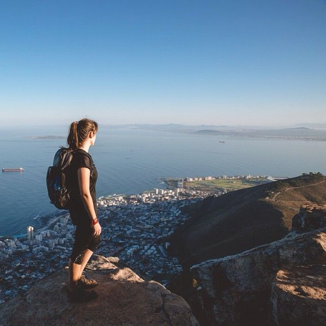 On top of Lion's Head in Cape Town : it was worth waking up at 5am ! #hike #travel #southafrica
