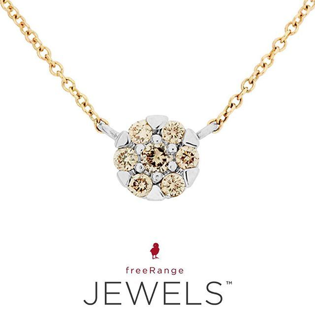 Delicate and oh-so amazing. Who else is in love? View our brand new Yellow and White Gold Diamond Glitz Necklace online. @freerangejewels | www.freerangejewels.co.za