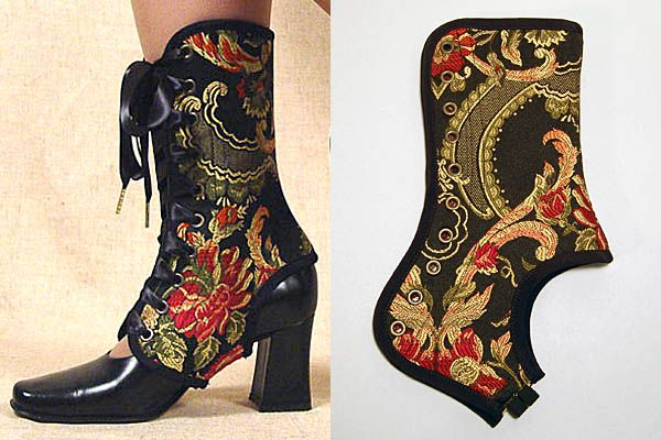 Use those ankle braces you can get at any pharmacy and decorate them steampunk style!