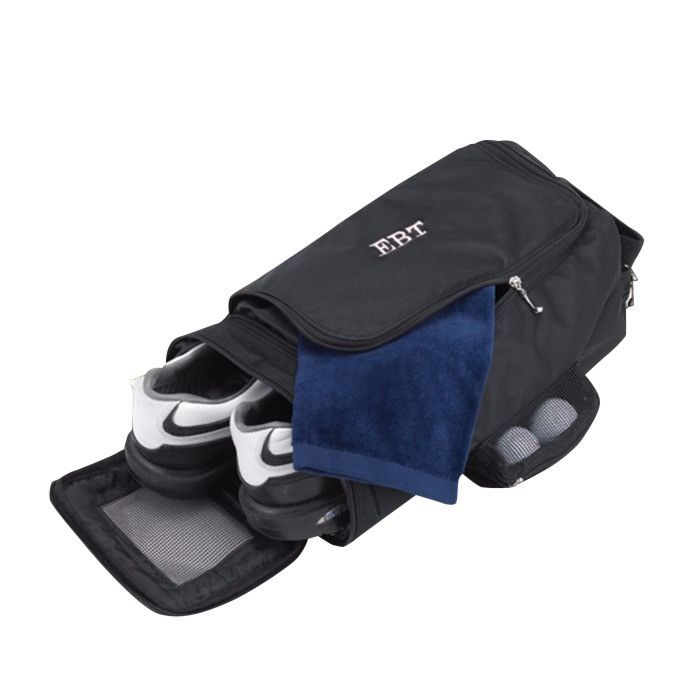 Personalized Golf Shoe Bag Looking for a sensible way to carry your golf, workout, or bowling shoes? Store them in our attractive personalized shoe bag, ideal for the sports-minded individual or the a
