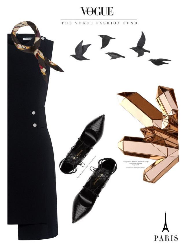 """""""Black"""" by nka12 on Polyvore featuring Finders Keepers, Yves Saint Laurent, Manipuri and Jayson Home"""