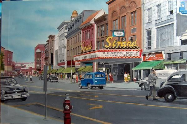 New Britain CT | Main Street 1956 shows New Britain CT a few years before redevelopment ...