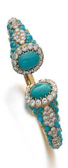 Turquoise Diamond, Clamper bracelet
