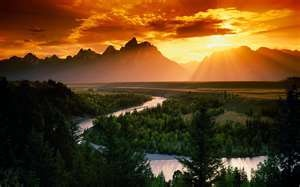 sunrise and sunsets: Grand Teton National, Sunsets, Teton National Parks, Beautiful, Volcanoes, Sunri, Places, Snakes Rivers, National Parks Wyoming