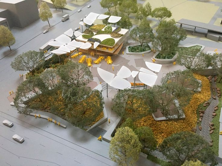 """Maqueta del nuevo """"FAB Park"""" en LA por MLA, OMA y IDEO. Imagen cortesía de OMA."""