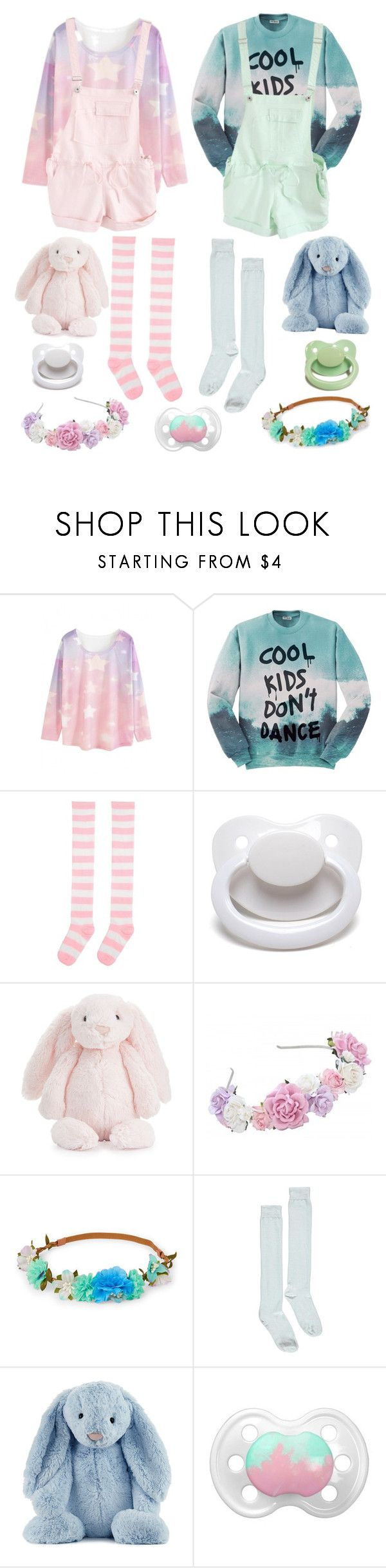 """""""Pastel Playdate (cglre)"""" by transboyfanboy ❤ liked on Polyvore featuring WithChic, Aloha From Deer, Jellycat and Boohoo"""