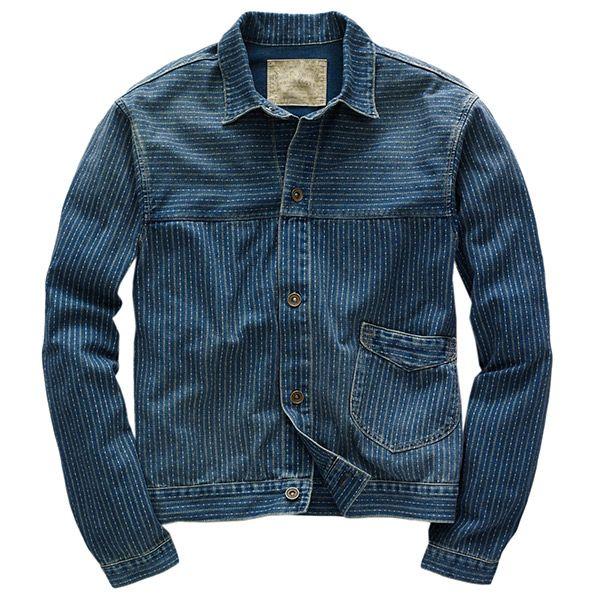 Pinstriped Denim Jacket, by RRL, Men's Spring Summer Fashion.